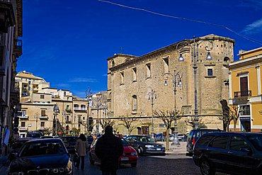 Vittorio Emanuele square,  Enna, Sicily, Italy