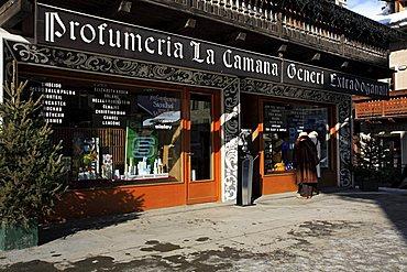 Shops, Livigno, Lombardy, Italy