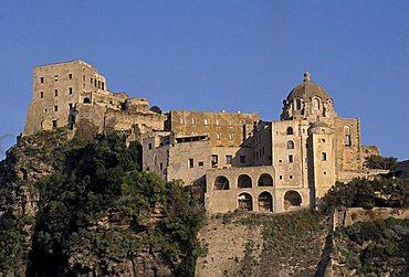 Aragonese castle, Ischia, Campania, Italy.