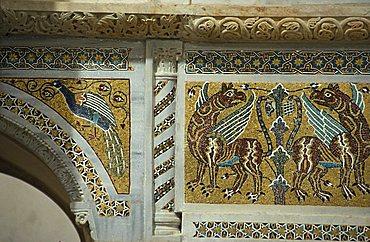 Particular of San Giovanni del Toro church, Ravello, Amalfi coast, Campania, Italy.