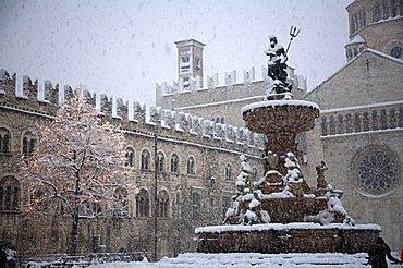 Neptune fountain, Trento, Trentino Alto Adige, Italy