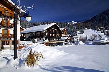 Hotels, Madonna di Campiglio, Val Rendena, Trentino Alto Adige, Italy
