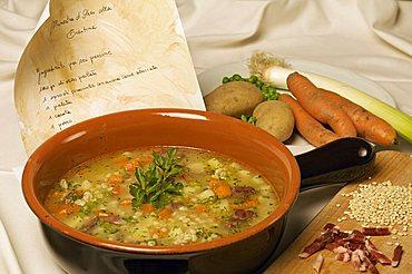 Barley soup, Trentino Alto Adige, Italy