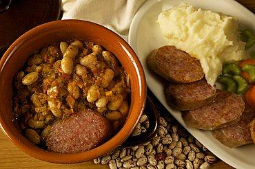 Cotechino with beans, Trentino Alto Adige, Italy
