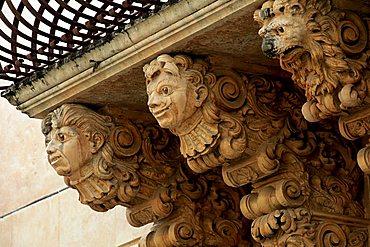 Baroque decorations, Noto, Sicily, Italy