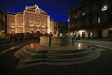 Teatro Massimo, Catania, Sicily, Italy