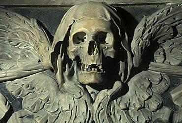 Skull, Purgatorio church, Naples, Campania, Italy
