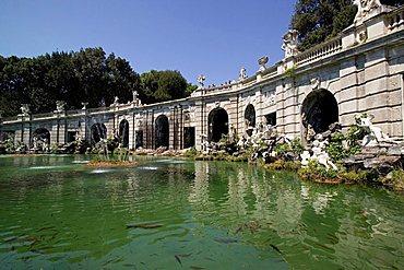 La Fontana di Eolo fountain,  Parco della Reggia di Caserta garden, Caserta, Campania, Italy, Europe