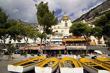 Cityscape, Positano, Amalfi Coast, Campania, Italy, Europe