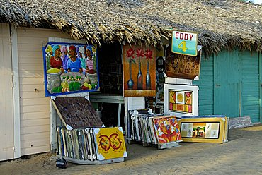 Caribbean traditional painting shop, Punta Cana, Dominican Republic, West Indies, Central America