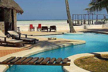 Swimming pool, Zanzibar, United Republic of Tanzania, Africa