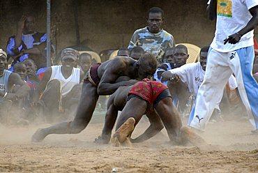 Traditional fight, Ndangane, Republic of Senegal, Africa