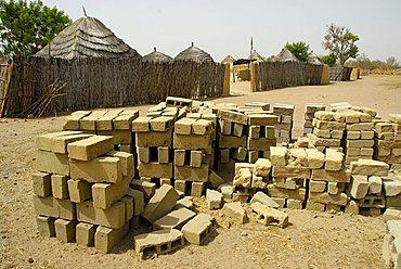 Mud bricks, Republic of Senegal, Africa