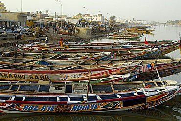 Pirogue, Saint-Louis, Republic of Senegal, Africa