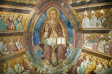 Frescoes, Boario Terme, Lombardy, Italy
