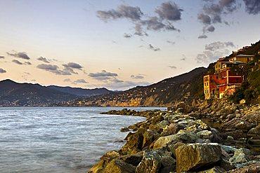 Punta Chiappa village, Camogli, Ligury, Italy