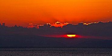 Sunset from Punta Chiappa, Camogli, Ligury, Italy