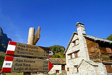 Crampiolo, Alpe Devero Park, Ossola Valley, Verbania province, Italy