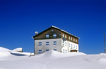 Rosetta refuge, Paneveggio Pale di San Martino Park, Trento province, Trentino, Italy