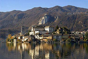 San Giulio island, Orta lake, Novara province, Piedmont, Italy