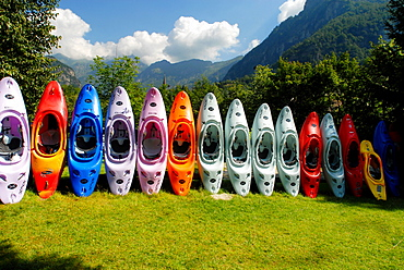Canoe school, Valsesia, Vercelli province, Piedmont, Italy
