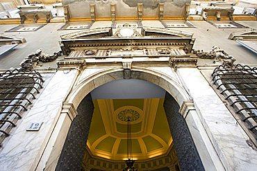 Façade Palazzo Baldassarre Lomellini palace, World heritage UNESCO site, Via Garibaldi, Strade Nuove, Rolli Palaces, Genoa, Ligury, Italy