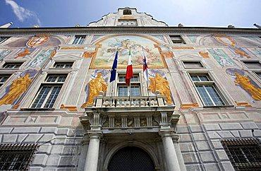 Casa di San Giorgio palace, harbour department, Genoa, Ligury, Italy