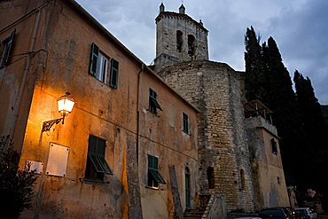 Rocca di Perti, Sant'Eusebio church, XIII Sec,  Finale Ligure, Ligury, Italy, Europe