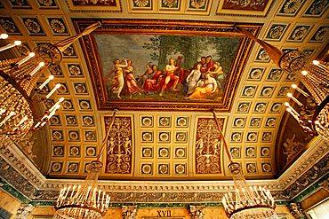 Sala XVII, Parnaso fresco, Andrea Appiani, Modern Art Museum, Villa Reale, Galleria d'Arte Moderna, Via Palestro 16, Milan, Lombardy, Italy, Europe