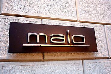 Malo sign, Via della Spiga 27, Milan, Lombardy, Italy, Europe
