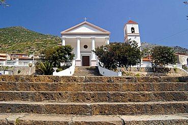 San Giovanni Battista church, Buggerru, Sulcis, Iglesiente, Carbonia, Iglesias, Sardinia, Italy