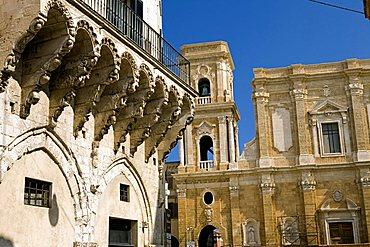 Cathedral and Loggia Balsamo, Brindisi, Puglia, Italy