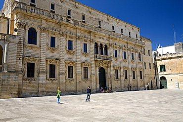 Episcopio palace, Cathedral square, Lecce, Puglia, Italy