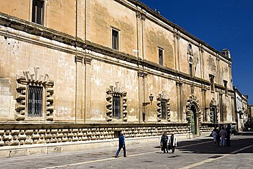 Foreshortening, Libertini street, Lecce, Puglia, Italy