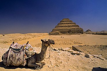 Archaeological site of Memphis stepped Pyramid, Saqqara, Egypt, North Africa, Africa