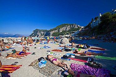 playa, Capri Island, Naples, Campania, Italy, Europe