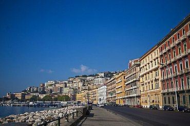 Caracciolo street, Naples, Campania, Italy, Europe