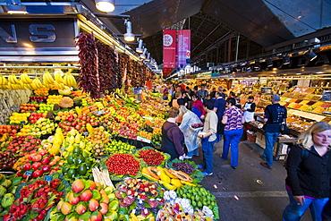 La Buqueria fruit market, Rambla, Barcelona, Spain, Europe
