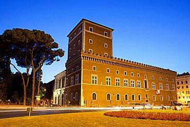 Palazzo Venezia palace, National Museum, Via Del Plebiscito street, Rome, Italy