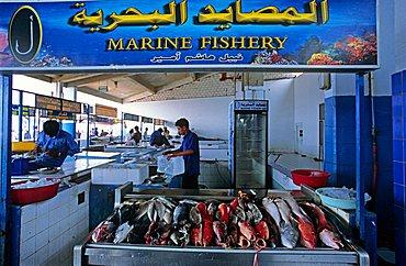 Fish market, Jeddah, Saudi Arabia, Middle East