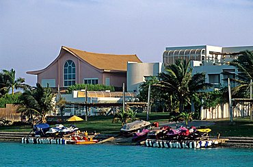 Villas along the coast, Jeddah, Saudi Arabia, Middle East