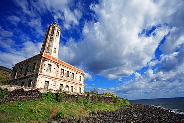 Lighthouse, Vulcano island, Aeolian Islands, Sicily, Italy