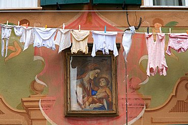 Vrigin Mary painting, Camogli, Ligury, Italy