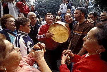 Celebration for the Festa della Madonna delle Galline, Pagani, Campania, Italy