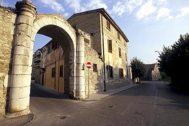 Antique city gate, Benevento, Campania, Italy