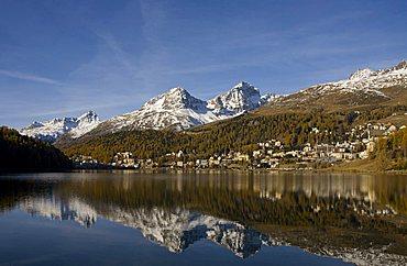 Cityscape, St. Moritz, Engadina, Switzerland
