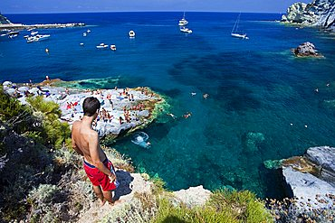 Cala Feola, Ponza Island, Pontine Islands, Lazio, Italy