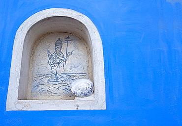 Saint Silverio aedicula, Ponza Island, Pontine Islands, Lazio, Italy
