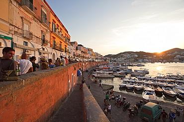 Happy hour in main street, Ponza Island, Pontine Islands, Lazio, Italy