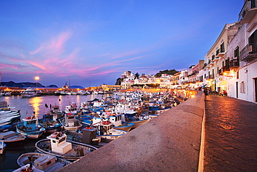 Main street, Ponza Island, Pontine Islands, Lazio, Italy
